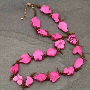 Pink Natural Stone Western Necklace
